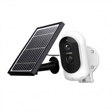 ESCAM G12 1080P Full HD Outdoor Rechargeable Battery Solar Panel PIR Alarm WiFi Camera